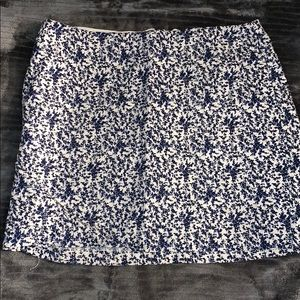 Blue and white flower. Madewell skirt. Size 6 .